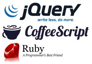 jQuery, CoffeeScript, Ruby